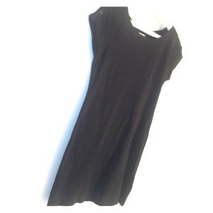 Banana Republic Black T-Shirt Dress